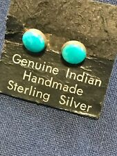 TURQUOISE PETITE STUD EARRINGS STERLING SILVER DAINTY