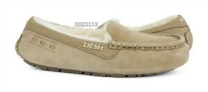 UGG Ansley 40:40:40 Anniversary Sand Suede Fur Slippers Womens Size 9 *NIB*