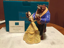 "WDCC Beauty and The Beast  Belle & Beast ""Tale as Old as Time"" Box/COA"