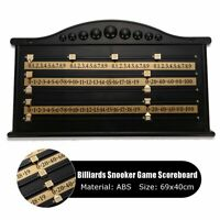 Vintage Billiards Snooker Scoreboard Game Wall Scorer Board 2-4 Player Match