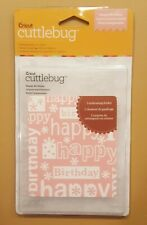 "Cricut Cuttlebug HAPPY BIRTHDAY 5"" X 7"" Embossing Folder  NEW"