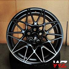 19 Mesh Wheels Satin Black Fits Newer BMW 328 435 528 530 535 645 750 760 series
