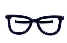 Vintage retro punk style black glasses double finger ring UK Size L M