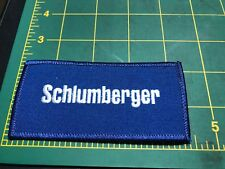 Schlumberger Oilfield Services Company Drilling Logo Production Oil Gas Patch H