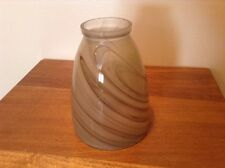 Nice glass taupe swirl small lamp ceiling light shade
