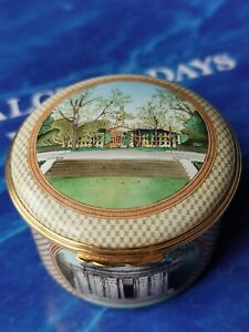 Halcyon Days Enamels Large Box Whig Hall, The University Chapel, Blair Arch