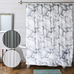 Shower Curtain Extra Long Mould & Mildew Proof Wide Size Unique Design Curtains