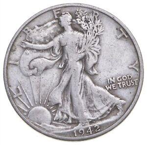 1942-D Walking Liberty 90% Silver US Half Dollar *017