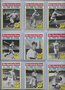 1976 Topps All-Time All-Stars Complete Set #341-350 Ruth Williams Gehrig EX NMNT