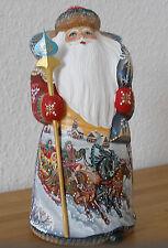 """Weihnachtsfigur!Weihnachtsmann!Kreative Miniatur mit """"Winter-Troika""""!HANDGEMALT*"""