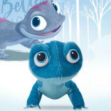 10'' New Frozen2 Cute Salamander Bruni Plush Toy Blue lizard Stuffed Doll Gift