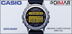 Vintage Casio Databank DBW-320. QW.838 Japan. TELEMEMO.WR.100m. AÑO.1989