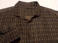 Kiminori Morishita Mens Medium L/S Button-Front Multicolor Geometric Shirt
