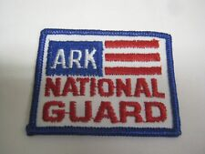 Vintage Ark Arkansas National Guard Embroidered Iron On Patch Red White Blue