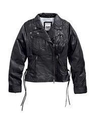 Women's Plus Size Casual Leather Biker Coats & Jackets
