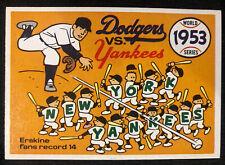 1970 Fleer Laughlin World Series BLUE BACK, 1953 Yankees/Dodgers, Pack Fresh!