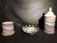 Vintage Imperial Purple Slag Glass Candy Dish SET 4 PCS