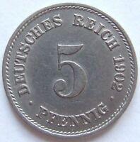 Top! 5 Pfennig 1902 F En Extremely fine/Brillant uncirculated