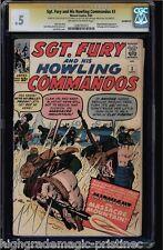 SGT FURY & HIS HOWLING COMMANDOS #3 CGC .5 OWW CGC #1206791012