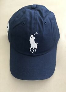 NWT POLO Ralph Lauren Men's Big Pony Baseball Cap Hat Navy Blue