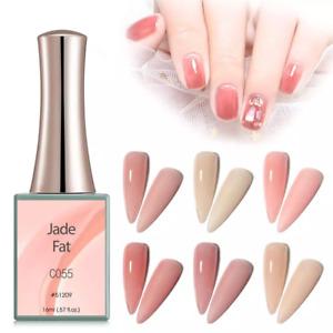 CANNI UV Nail Gel Polish JADE FAT SERIES Pink Nude Varnish Soak Off LED 16ML