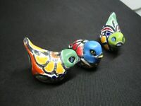 Lot of 3 Talavera Birds,  Mexican Home and yard art
