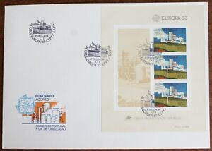 Azores – 1983 Europa Miniature Sheet on FDC – Superb Used (Le1)