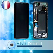 Ecran complet pour Samsung Galaxy S8 G950F noir vitre tactile+LCD sur chassis