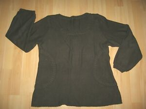 CAPTAIN TORTUE - Pull col rond marron fantaisie coton - Taille 40 - TBE !!!!!!!