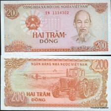 VIETNAM billet neuf de 200 DONG Pick100   1987  tracteur moisson