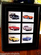 CORVETTE  (REPRODUCTION COLLECTORS CARDS IN A FRAME)