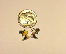2 FLOATING LOCKET CHARMS PILGRIM SNOOPY & WOODSTOCK THANKGSGIVING