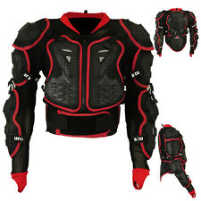 Motocross Motorbike Body Armour Motorcycle Protection Guard Jacket BLK/RED Small