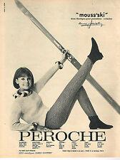 PUBLICITE ADVERTISING   1964   PEROCHE  vetements de sport MOUSS'SKI