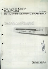Rare Factory Harman Kardon TU615 AM/FM Digital Tuner Technical/Service Manual