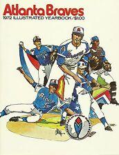 Atlanta Braves MLB Baseball 1972 Yearbook Hank Aaron Niekro Cepeda NOS New