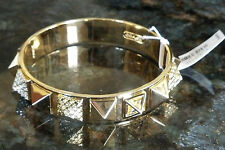 Coach Pave Crystal Pyramid Brass Bangle Bracelet F96351 100% Authentic New NWT