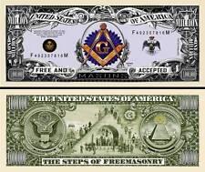 OUR FREE MASON DOLLAR BILL (2 Bills)