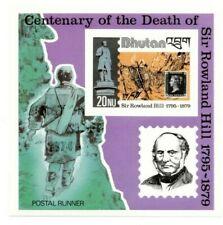 SPECIAL LOT Bhutan 1980 309 - Sir Rowland Hill - 50 Souvenir Sheets - IMPERF