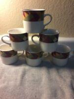 (6)  STUDIO NOVA--PALM DESERT-- COFFEE MUGS / CUPS---FREE SHIP--VGC