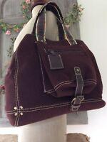 BILLY BAG London Designer ~Large Tote/ Leather Detail ~Lagenlook Shopper Handbag