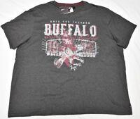 Buffalo David Bitton T-Shirt Men 3XL 3XB 3X NOSMIN V-Neck Graphic Tee Grey N910