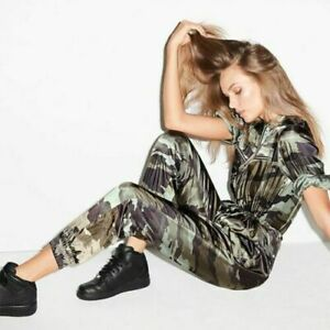 Victoria's Secret Jumper Romper FLIGHT SUIT Overall Army Camouflage - LARGE