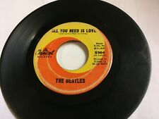 Beatles All You Need Is Love & Baby You're Rich Man 45 Capitol 5964-1967 htf