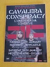 CAVALERA CONSPIRACY - 2012 Australia Tour - Laminated Promo Poster