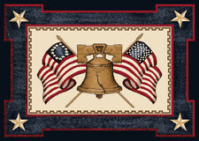 """5x8 Milliken Let Freedom Ring 02000 Opal Liberty Area Rug - Approx 5'4""""x7'8"""""""