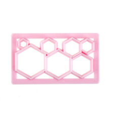 Hexagon Shape Plastic Cookie Cutter Cake Fondant Mold Cake Decorating Tool HC