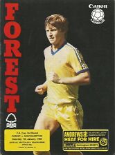 Nottingham Forest v Southampton - FA Cup - 7/1/1984 - Football Programme