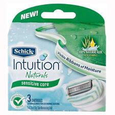genuine Schick Intuition Naturals Razor Blade Refills  3  Cartridges