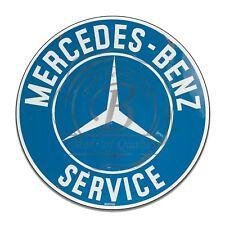 Mercedes-Benz Service Vintage Sign Reproduction Circle Aluminum Sign